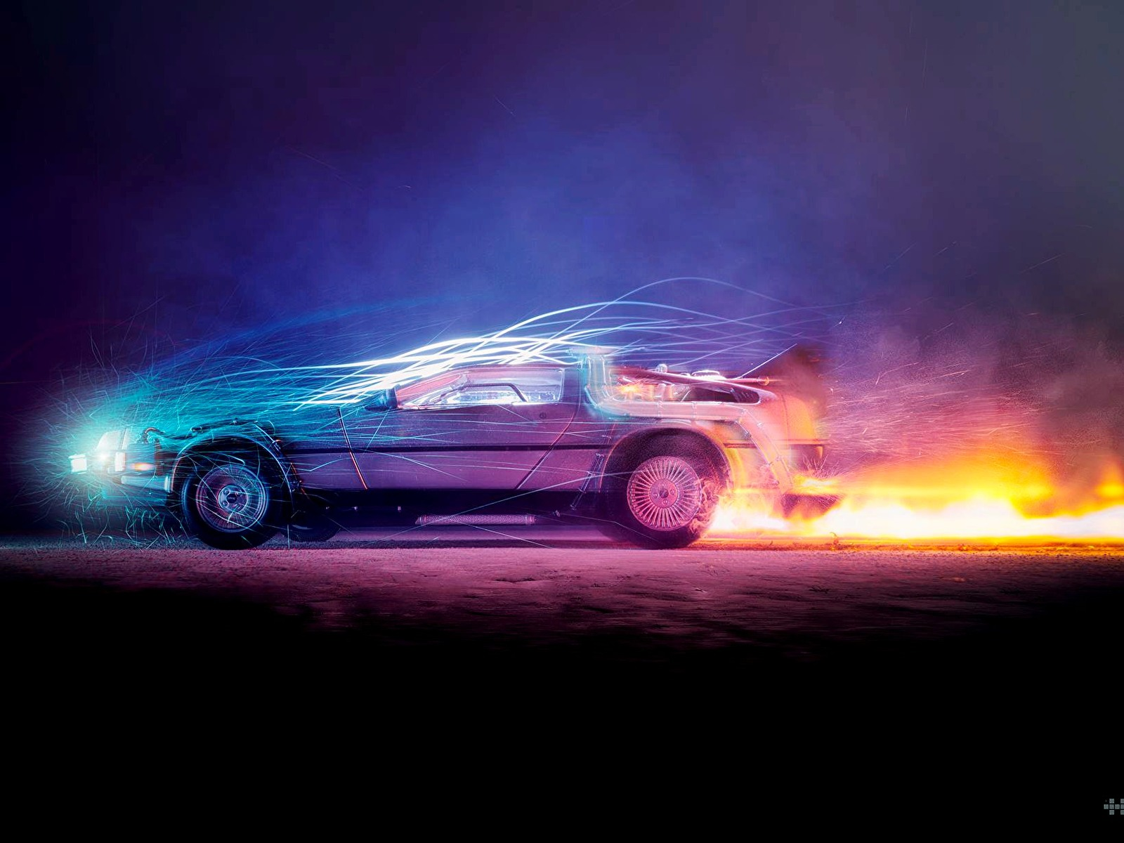Back to the Future Car Wallpaper