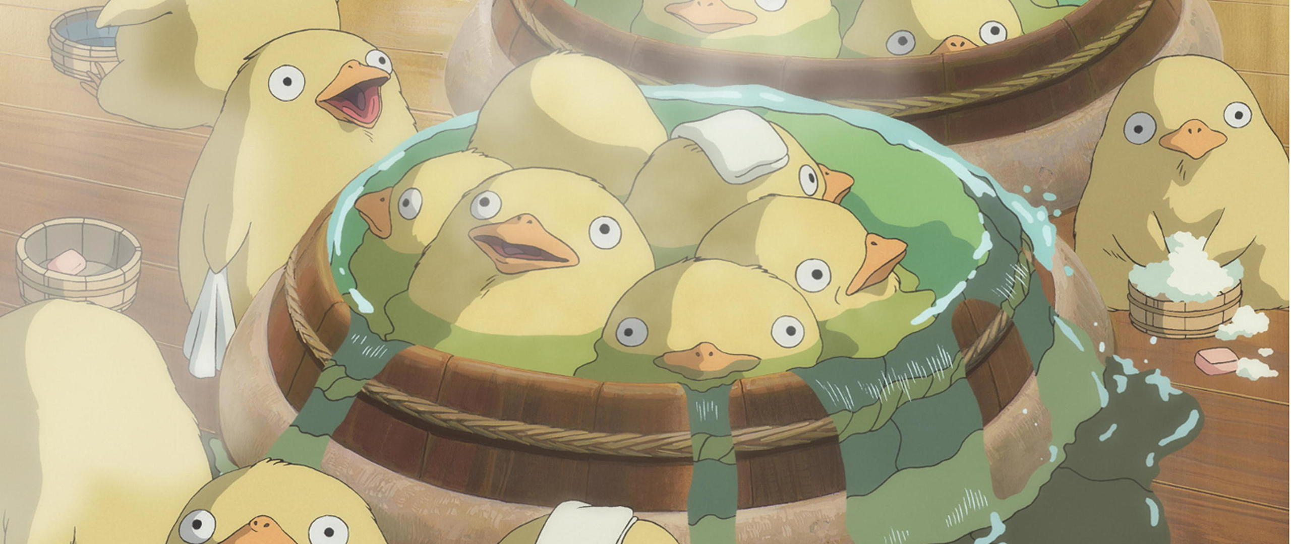 Duck Bath From Spirited Away 3555 X 1920 Wallpapers