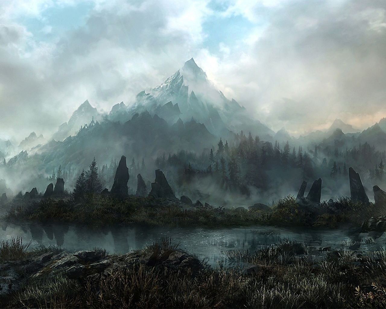 land of skyrim 1920 × 1080 : wallpapers