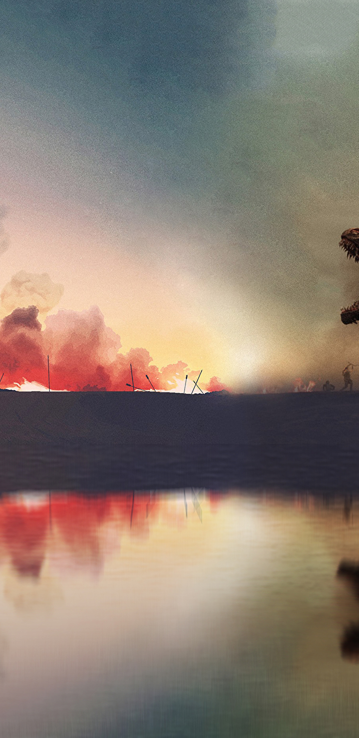 Dinosaur, Nature, Outdoors, Storm, Thunderstorm Resized By