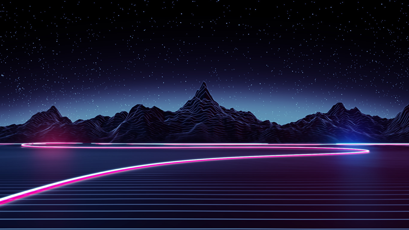 Neon Mountains 1920 × 1080 : wallpapers - photo#20