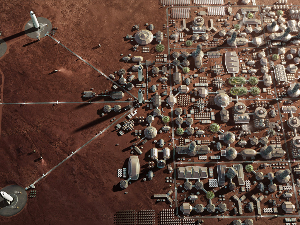Spacex S Mars Base Buildup Wallpapers