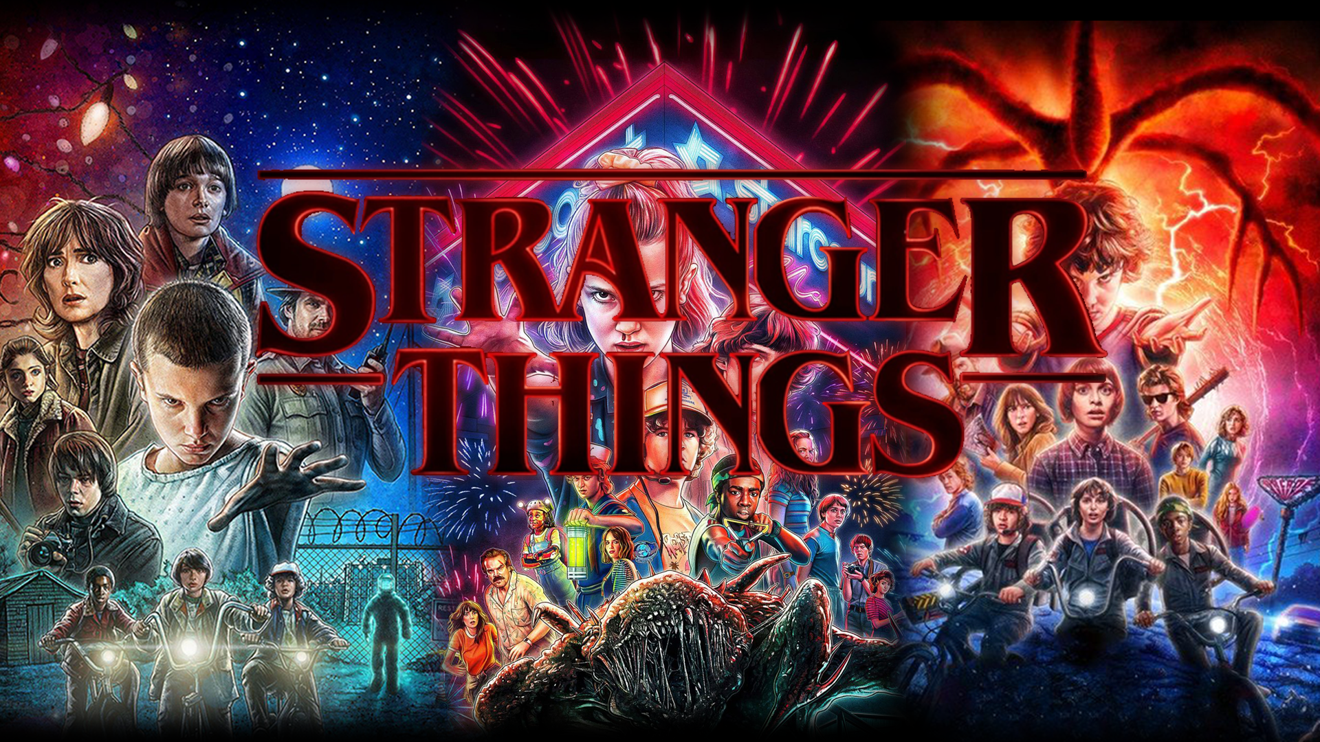 Stranger Things S1 S2 S3 1920x1080 Wallpapers