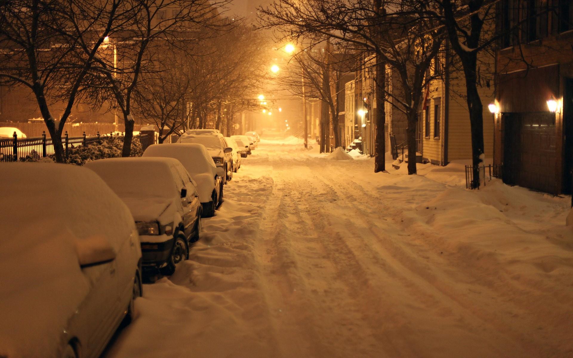 дорога зима вечер снег  № 3902540 загрузить