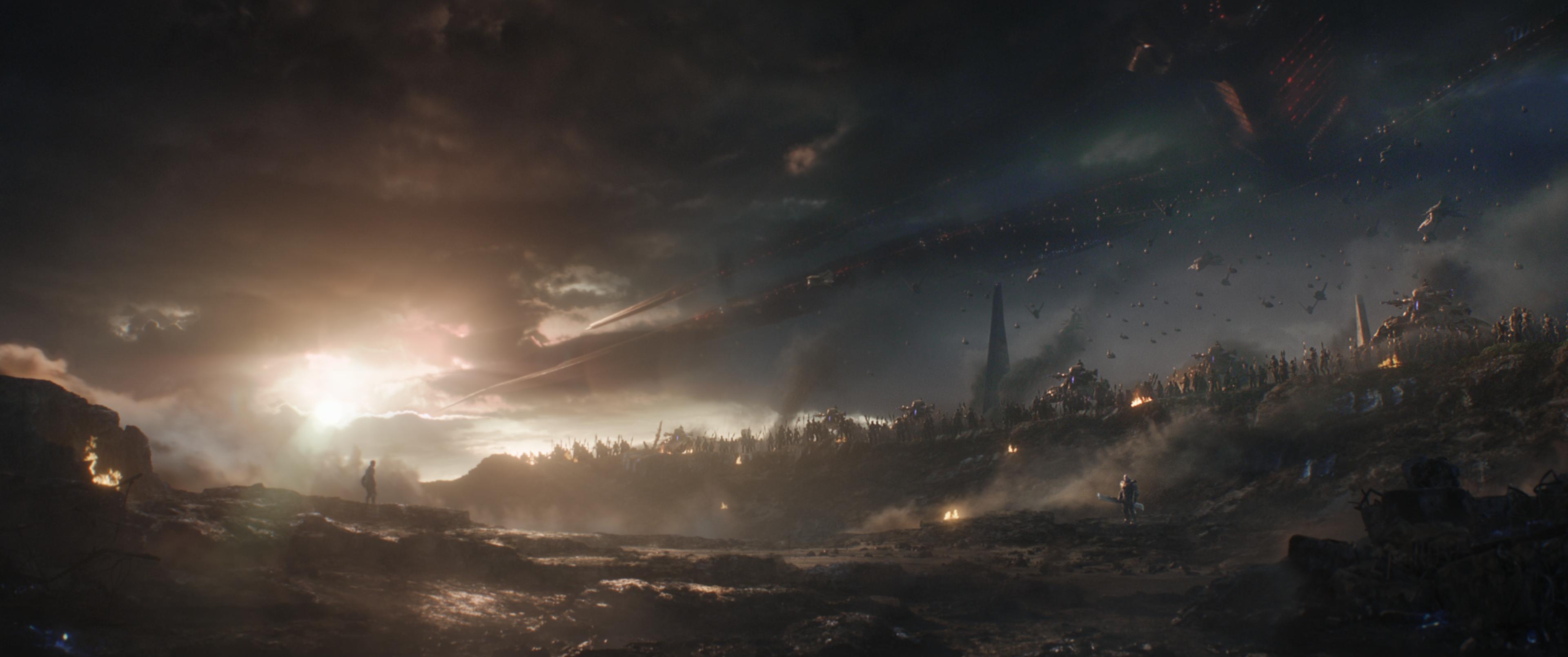21+ Thanos Sunset  Background
