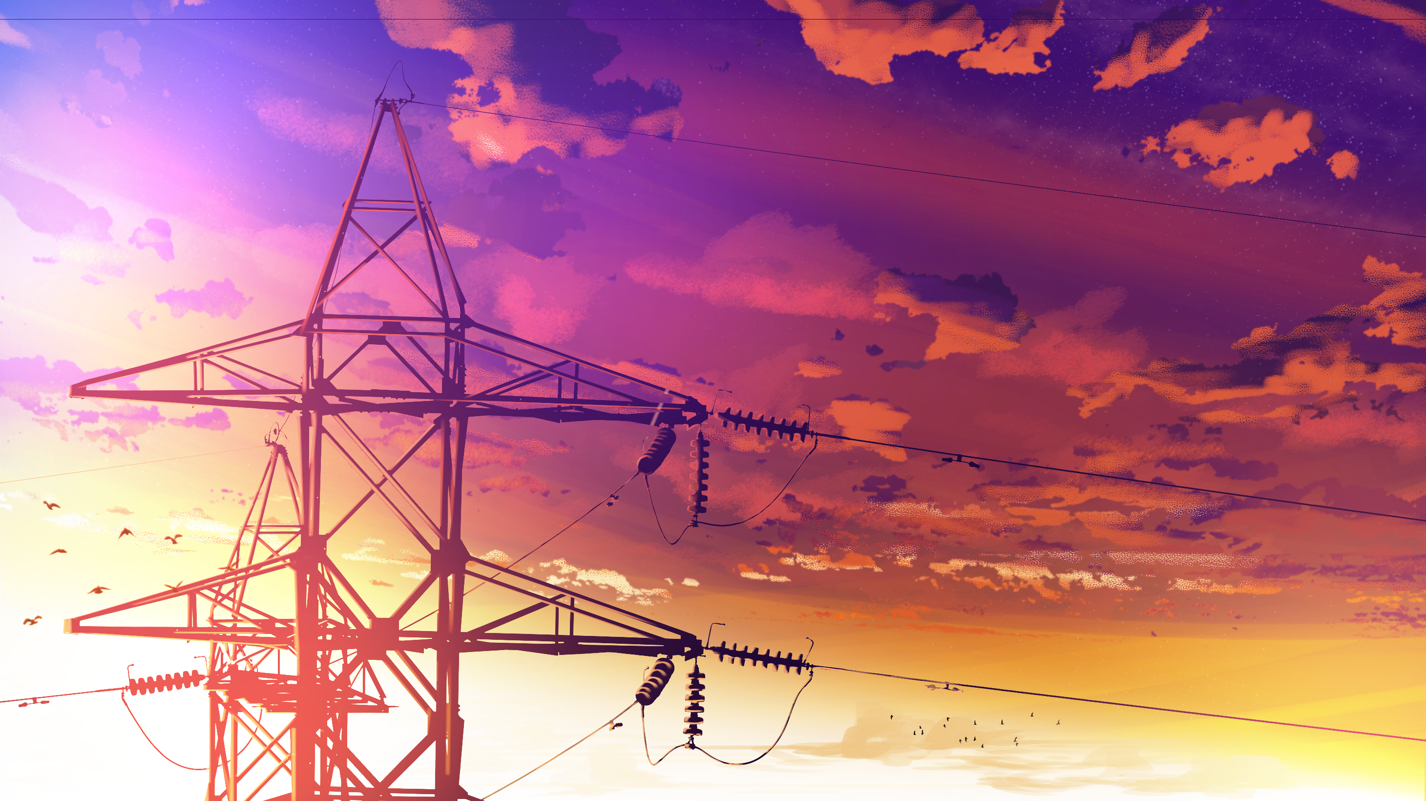 Cable Power Lines Electric Transmission Tower Utility Pole Resized By Ze Robot