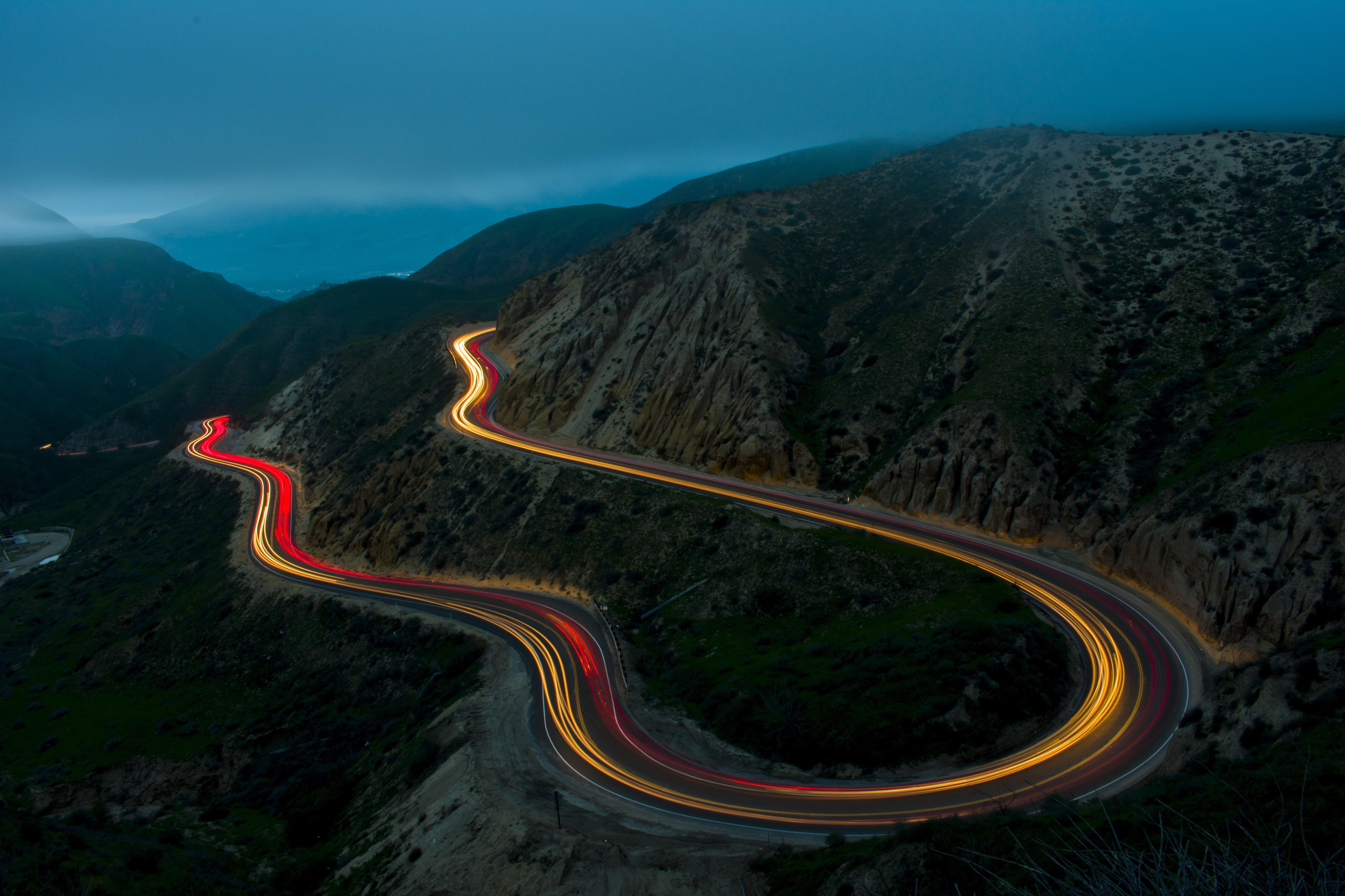 Mercedes дорога серпантин горы небо  № 2383229 без смс