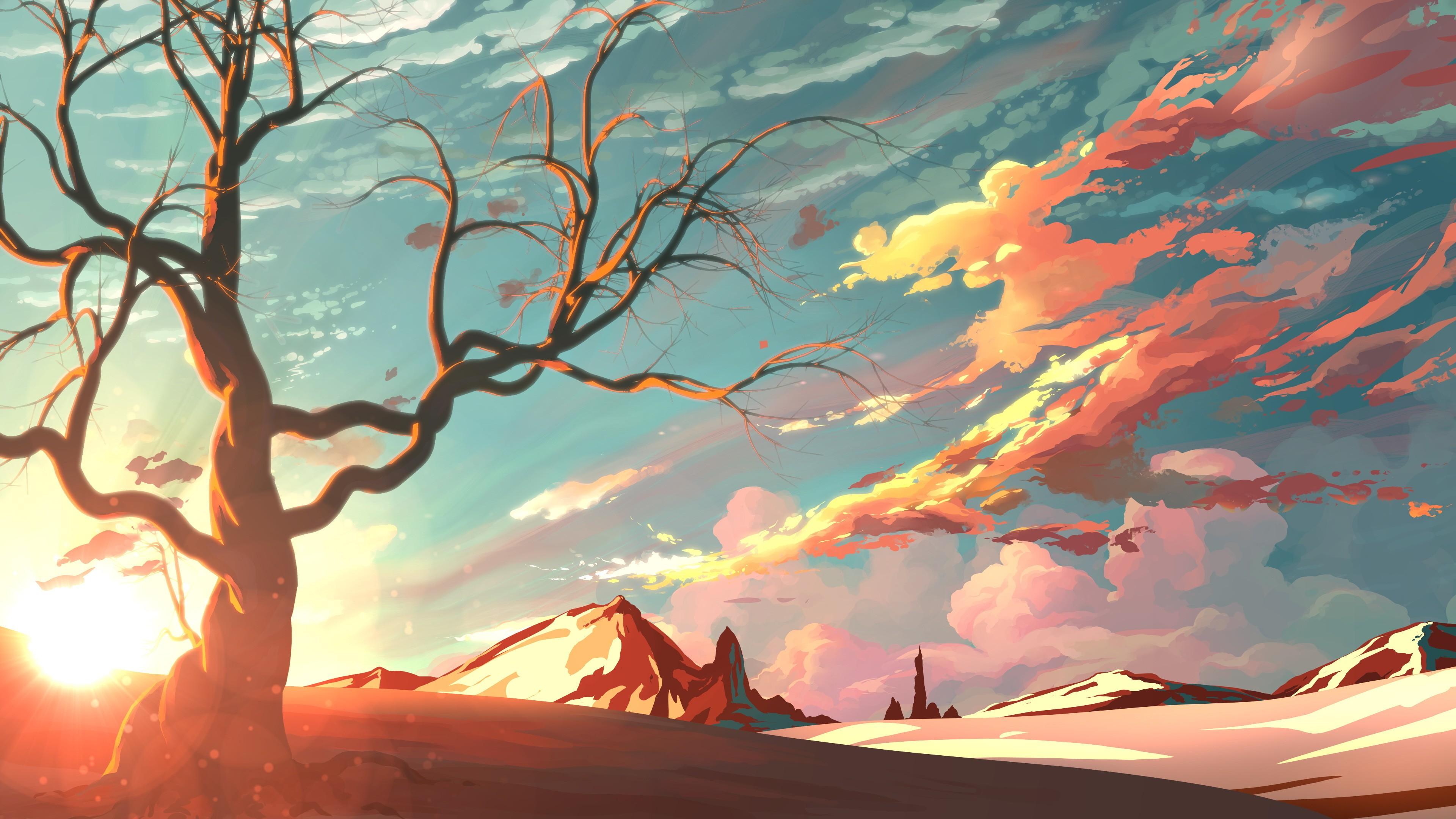 закат горы деревья без смс