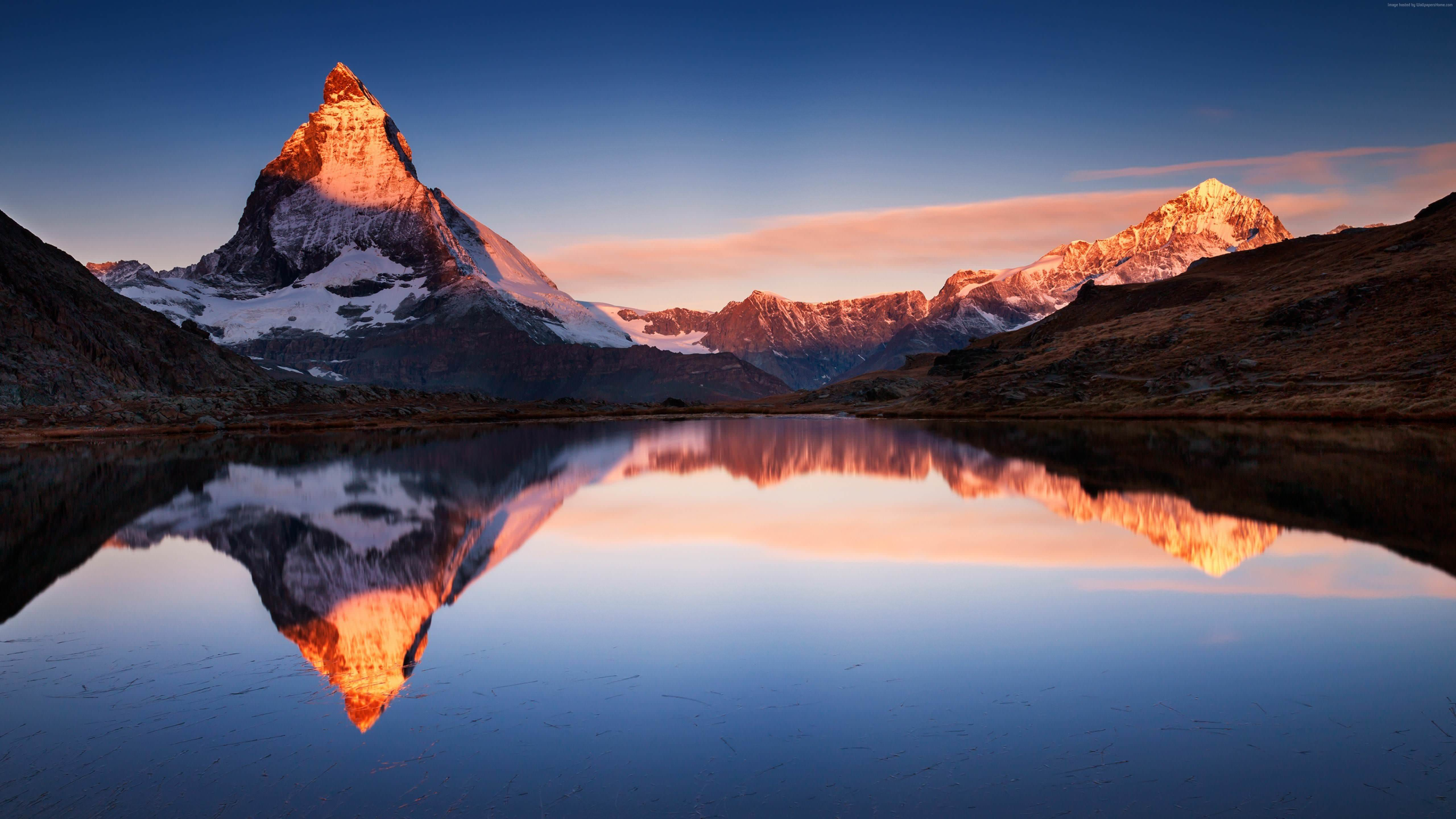 Album My 5k Wallpaper Collection Tags R Wallpapers Reddit Alps Mountain Nature Outdoors Dawn Dusk Red Sky Sunrise Sunset Landscape Scenery