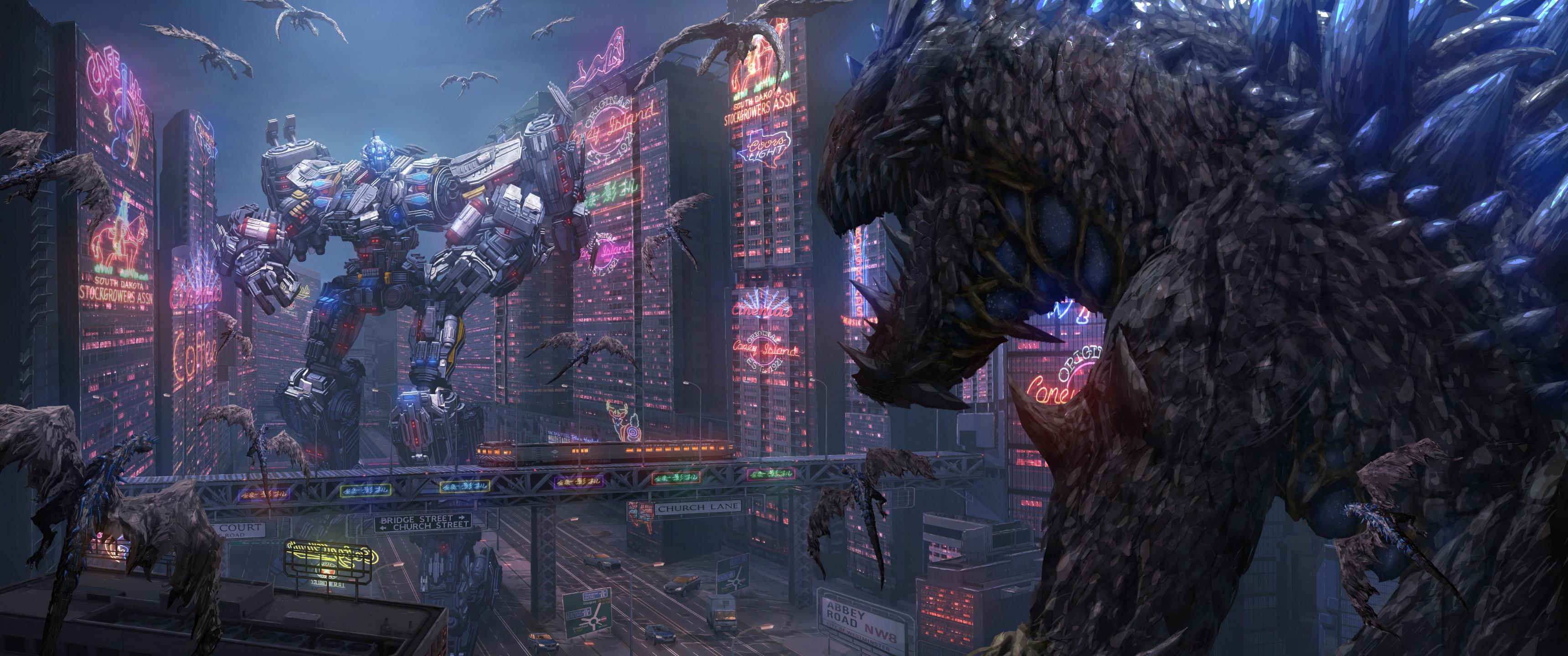 Alien, Dinosaur, T-Rex, Robot, Building resized by Ze Robot
